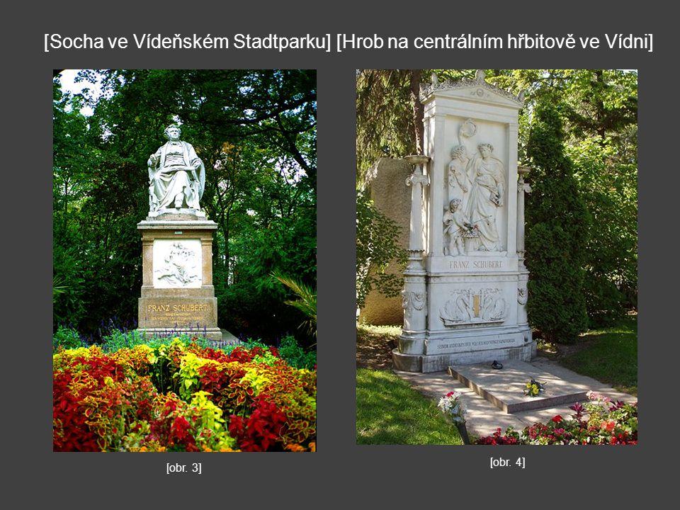 [Socha ve Vídeňském Stadtparku] [Hrob na centrálním hřbitově ve Vídni]